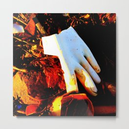 Rubber Glove Five Metal Print