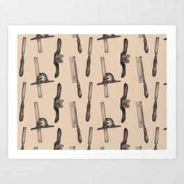 Tool Pattern Art Print