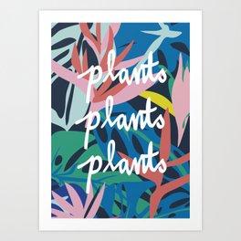 plants plants plants Art Print
