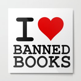 I Heart Banned Books Metal Print