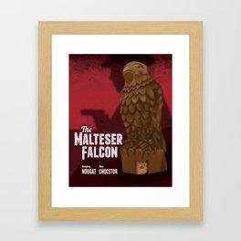 The Malteser Falcon Framed Art Print