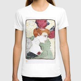 Bust of Mademoiselle Lender - Henri de Toulouse-Lautrec T-shirt