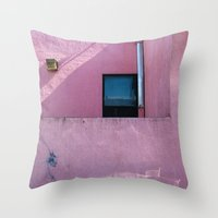 oakland Throw Pillows featuring Mexicali Rose, Oakland, CA. 2005 by JOtwell Perspectives