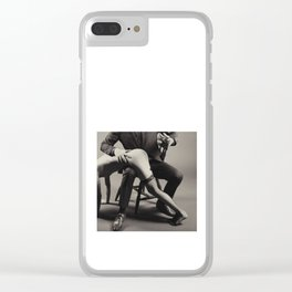 Photograph Spanking Art - Nude woman spanked Clear iPhone Case