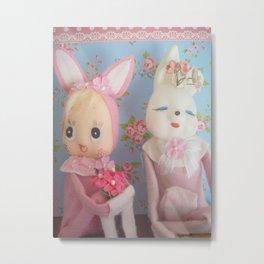 bunny best friends Metal Print
