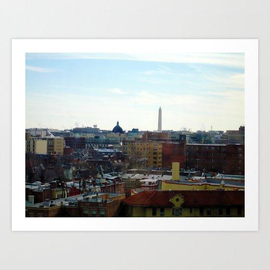 Washington DC Rooftops Art Print
