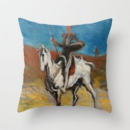 "Honoré Daumier ""Don Quijote and Sancho Panza"" Throw Pillow"