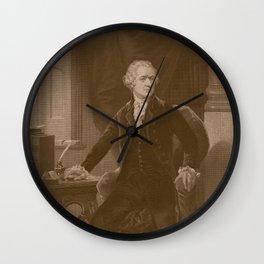 Alexander Hamilton Wall Clock