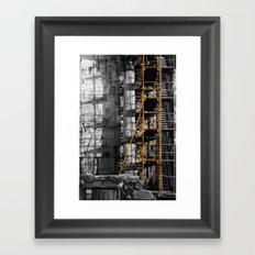 Ancient scaffold Framed Art Print