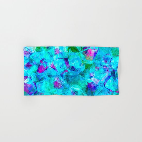 Water blue triangles-abstract pattern Hand & Bath Towel