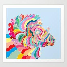 Goat in Rainbow Art Print
