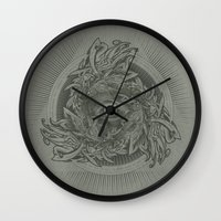 warcraft Wall Clocks featuring Storm of Swords by Plan 9 Design