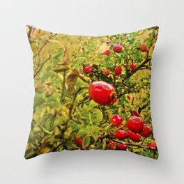 Nature red and green. Throw Pillow