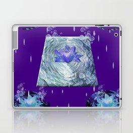 Water Lily Rain Laptop & iPad Skin