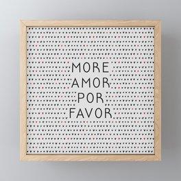 More Amor Black & Red, Heart Pattern Framed Mini Art Print