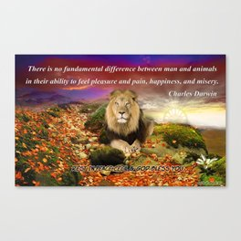 In Memory of Cecil The Lion Canvas Print