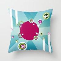 disco Throw Pillows featuring Disco by Kaissa Kkaissa