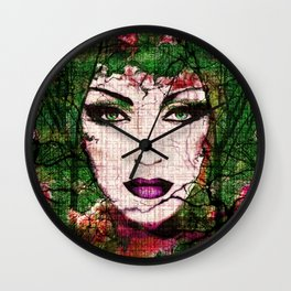 Forest Goddess by Lika Ramati Wall Clock