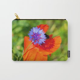 Cornflower kisses poppy Carry-All Pouch
