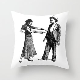 Bonnie&Clyde Throw Pillow