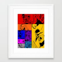 x men Framed Art Prints featuring X-Men by Carrillo Art Studio