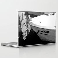 boats Laptop & iPad Skins featuring boats by habish