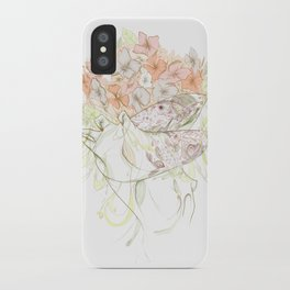 There's a Feeling In My Chest That Wants to Glide Like Leaves, and Set Like Fires 1/2 iPhone Case