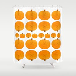 Pumpkin Pattern | Rustic Shower Curtain