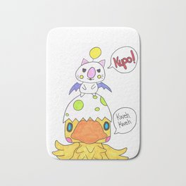 Moogle and Chocochick Bath Mat