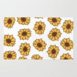 lil' anxious sunflowers Rug