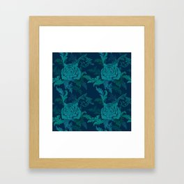 Tiger Greenery Framed Art Print