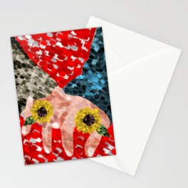 happy valentines lovers Stationery Cards