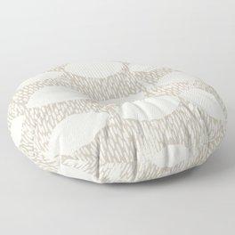 Arches Block Print in Cream Floor Pillow