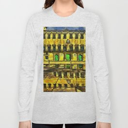 The Town Hall. (Painting) Long Sleeve T-shirt