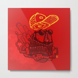 Hats n' Beards Metal Print