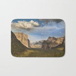 Tunnel View, Yosemite at Sunset Bath Mat