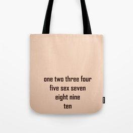One, two, trhee... Tote Bag