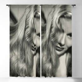 Veronica Lake black and white photography / black and white photographs Blackout Curtain