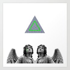 ⊕ Green Angels ⊕ Art Print
