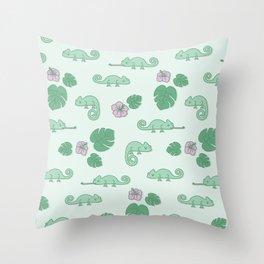 Remi the Chameleon Throw Pillow