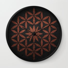 The Flower of Life - Ancient copper Wall Clock