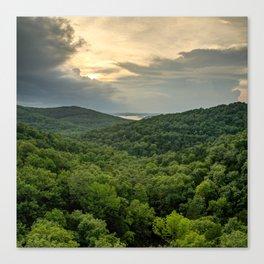 Missouri Ozark Mountains Overlooking Table Rock Lake Canvas Print