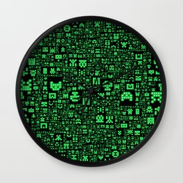 Hello Invaders Wall Clock