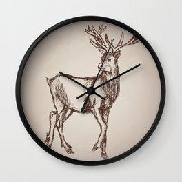 Deer Drawing Wall Clock