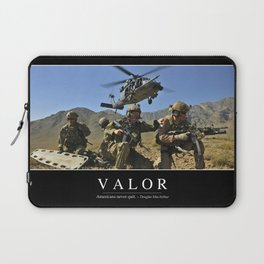 Valor: Inspirational Quote and Motivational Poster Laptop Sleeve
