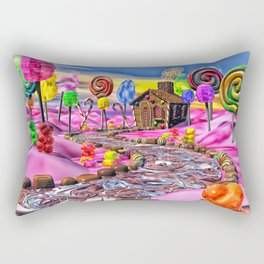 Pink Candyland Rectangular Pillow