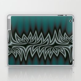Fractal Tribal Art in Pacific Teal Laptop & iPad Skin