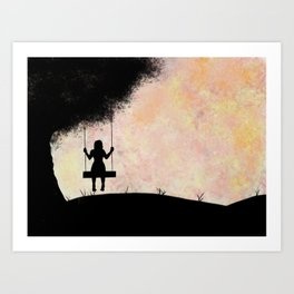 Pastel Swing Art Print