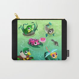 Funny animals in the pond Carry-All Pouch