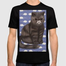 Cranky Cat / Shitty Kitty Black SMALL Mens Fitted Tee